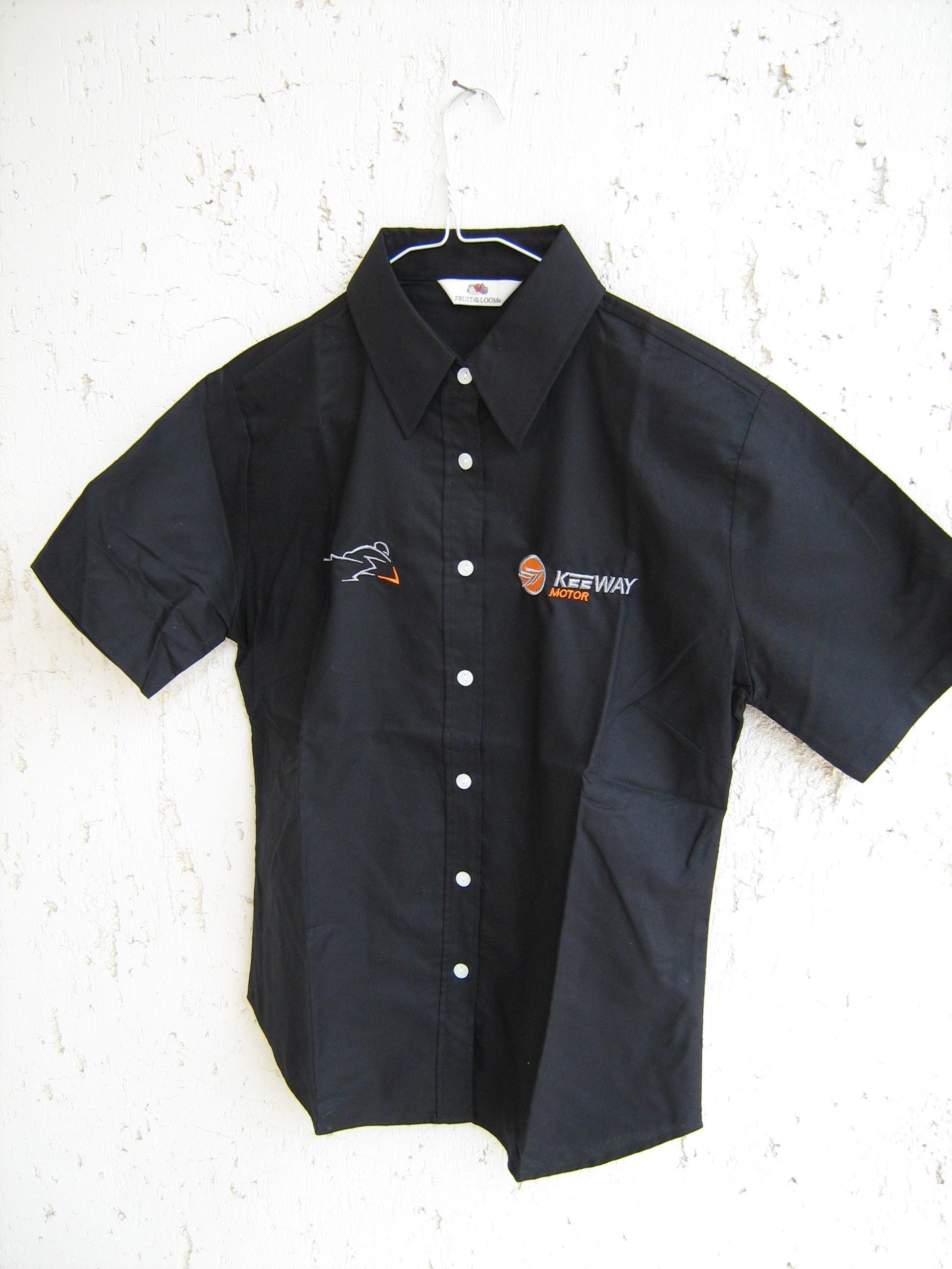 Keeway ing gépi hímzés, fekete
