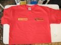 Hell Racing Team póló gépi hímzés, piros